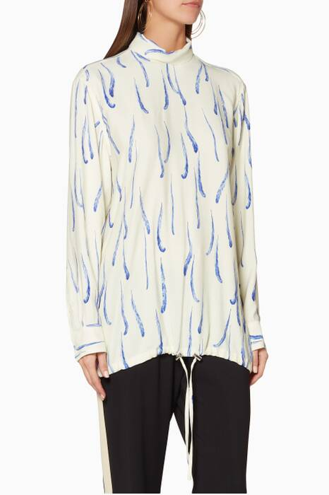 Off-White Feather-Print Contisa Shirt