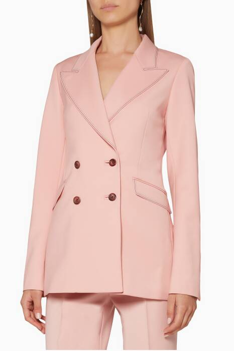 Blush Double-Breasted Angela Blazer