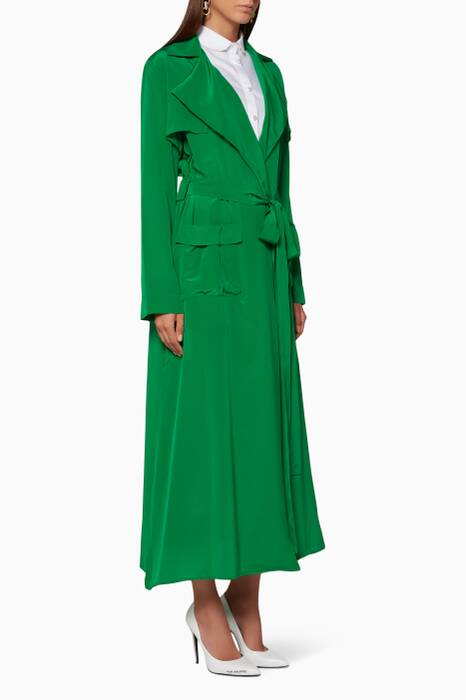 Emerald-Green Emmy Trench Coat