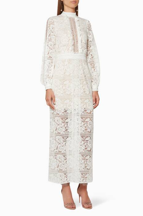 Ivory Lace Madeliene Maxi Dress
