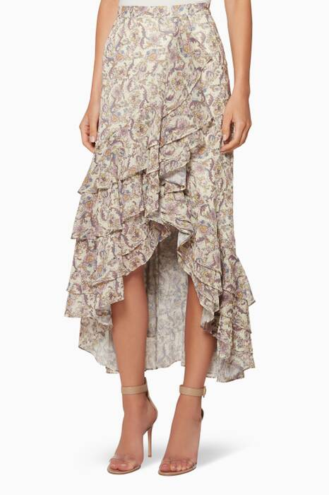 Multi-Coloured Ruffled Ophelia Skirt