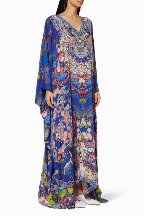 Multi-Coloured Saturn-Sister Printed Kaftan
