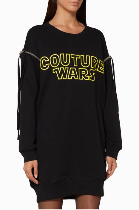 Black Couture Wars Sweatshirt Dress