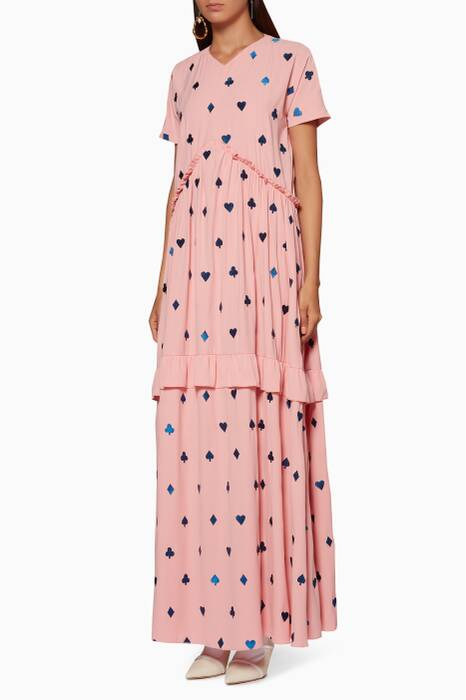 Light-Pink Embroidered Milla Maxi Dress