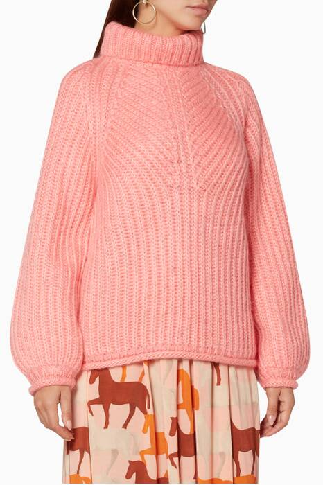 Pink Mohair Nicholas Sweater