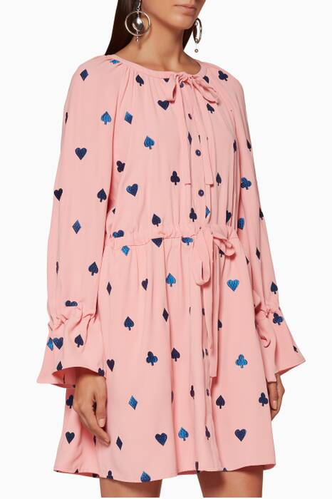 Light-Pink Embroidered Ditte Mini Dress