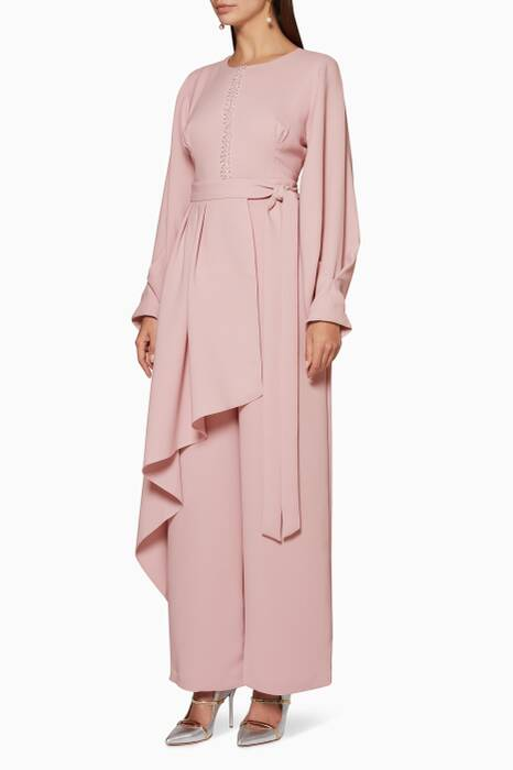 Lilac Myrrh Pleated Jumpsuit