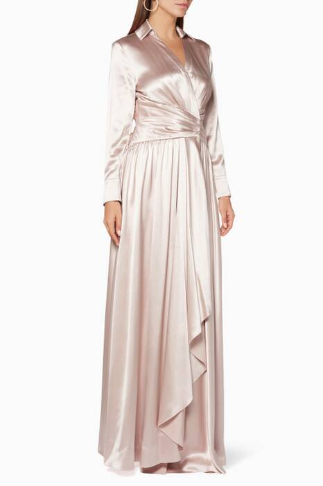 Pastel-Pink Silk Burlington Gown