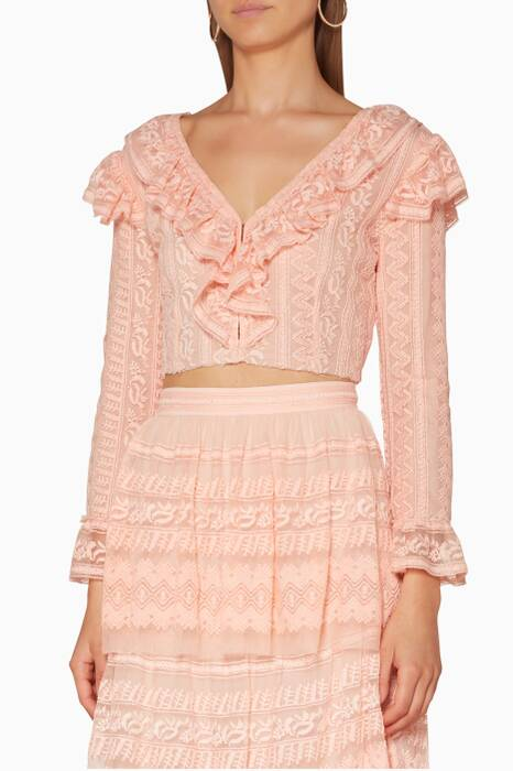 Light Pink Cropped Macey Top