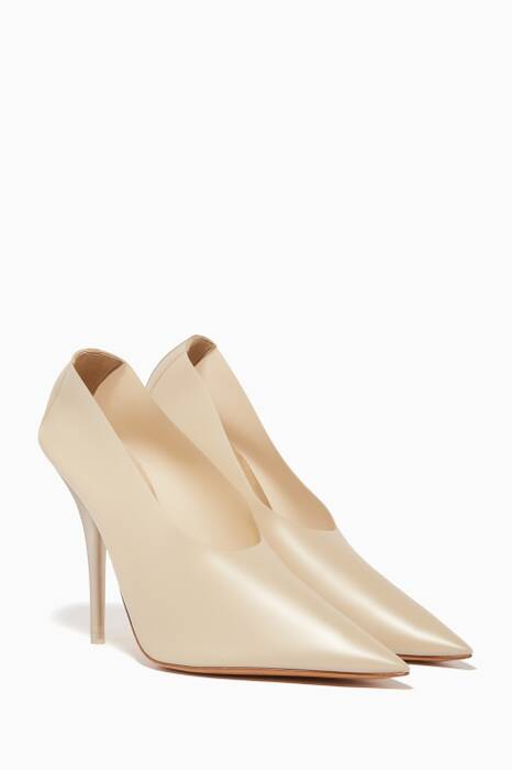 Light-Beige PVC Pumps