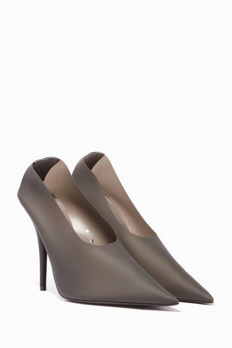 Dark-Grey PVC Pumps