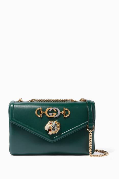 Dark-Green Medium Rajah Shoulder Bag