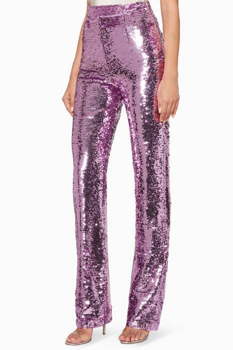 Lilac Sequined Pants