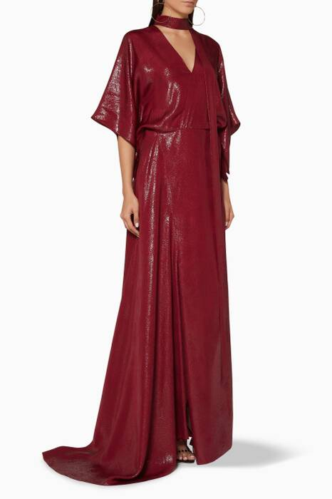 Dark-Red Duval Gown
