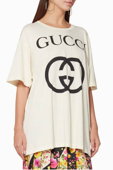 White Interlocking G Oversize T-Shirt
