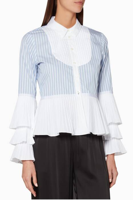 Light-Blue Striped Oxford Shirt