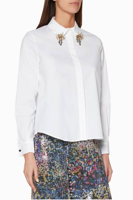 White Embellished Shane Shirt