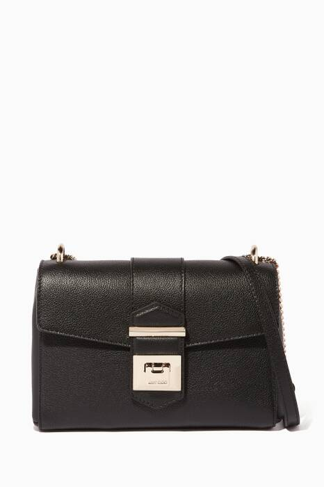 Black Marianne/XB Leather Shoulder Bag