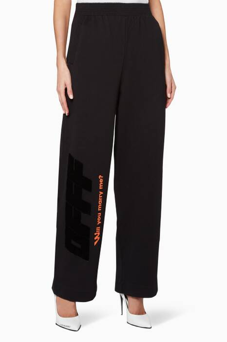 Black Modern Obstacles Track Pants