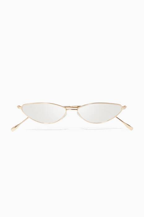 Gold Nimbin Cat-Eye Sunglasses