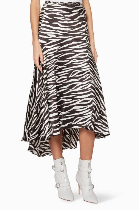 Black & White Zebra-Print Blakely Skirt