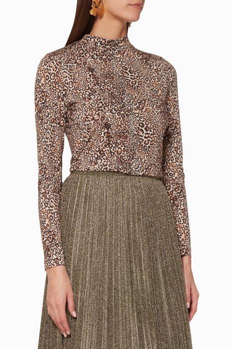 d81e499113e2a Shop Luxury WHISTLES Brown Esme Leopard-Print Dress