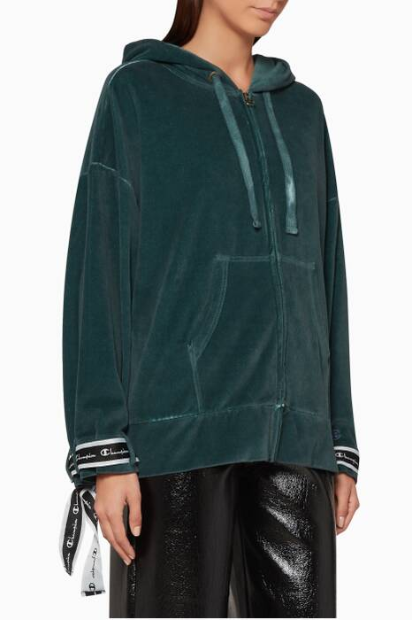 Dark-Green Hooded Jacket