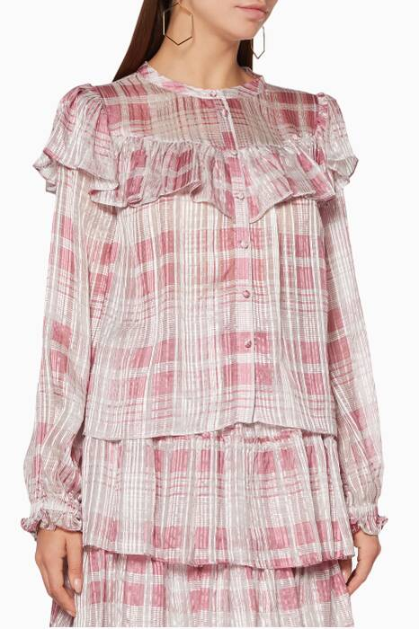 Pink Ruffled Erica Top