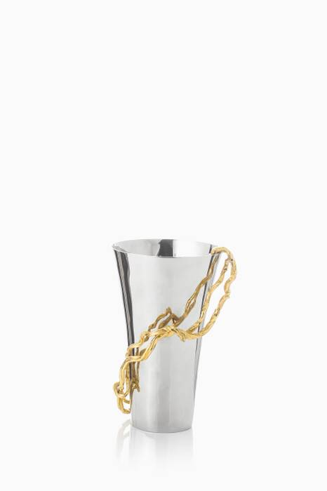 Silver Wisteria Gold Medium Vase