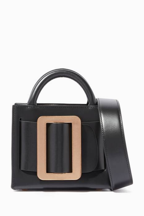 Black Bobby 16 Leather Shoulder Bag