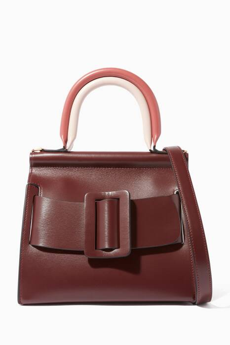 Burgundy Karl 24 Double Top Handle Bag