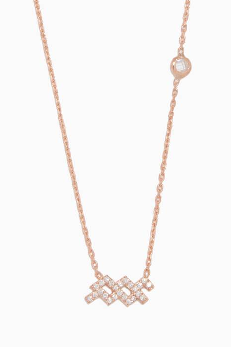 Rose-Gold Aquarius Pendant Necklace