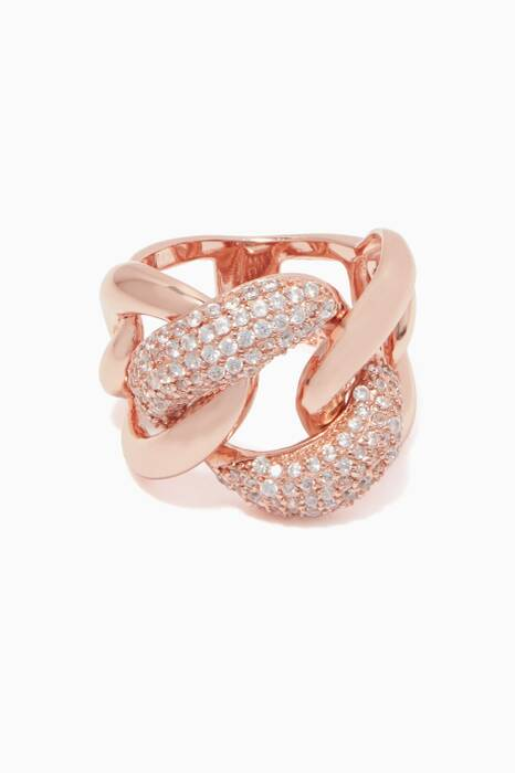 Rose-Gold & Zircon Ring