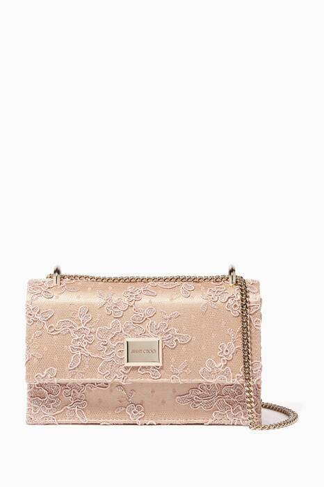 Light-Pink Lace Leni Shoulder Bag