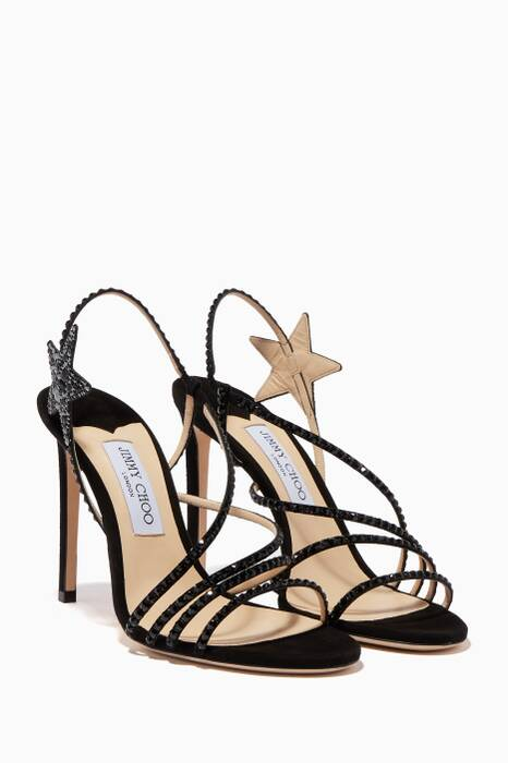 Black Embellished Lynn Sandals