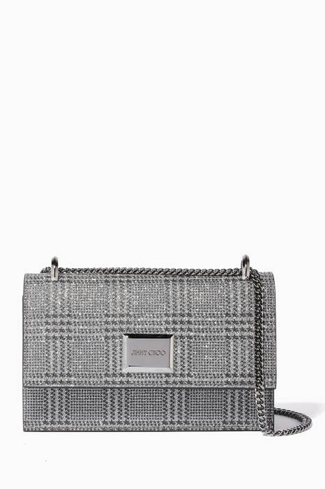 Silver Checked Leni Shoulder Bag
