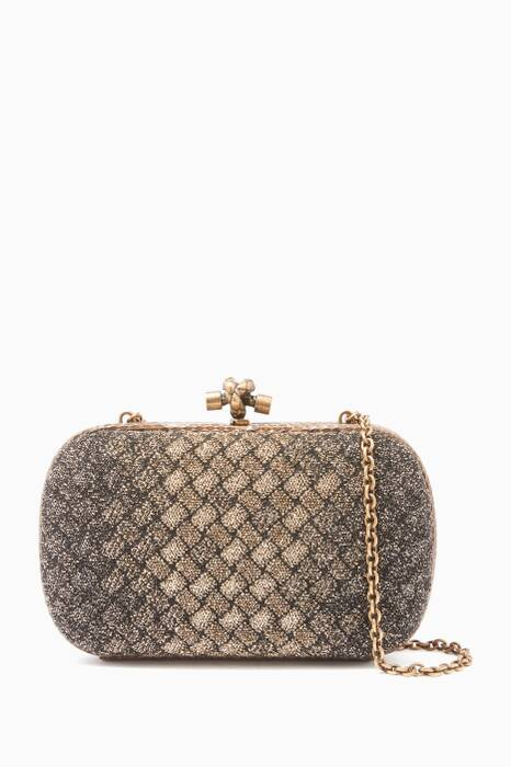 Burnt-Gold Ayers Chain Knot Clutch