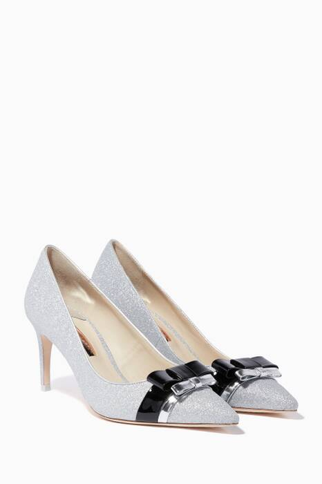 Silver Andie Bow Pumps