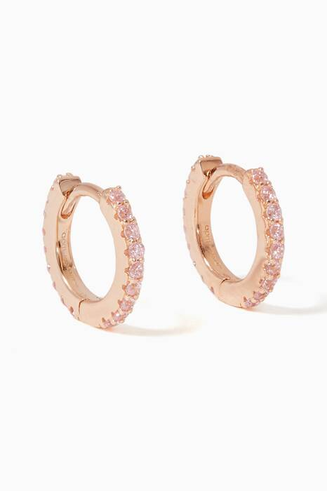 Pink Promesse Mini Hoop Earrings