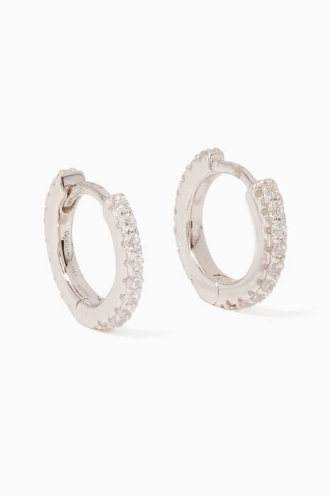 Silver Promesse Mini Hoop Earrings