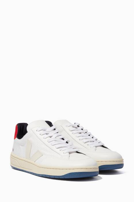 White V-12 Bastille Tri-Colour Sneakers