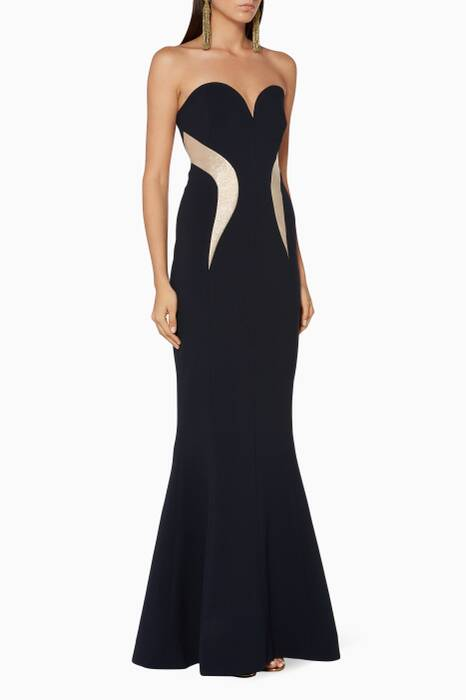 Ink Strapless Lucienne Gown