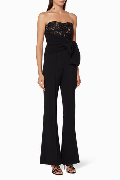 Black Strapless Betty Jumpsuit