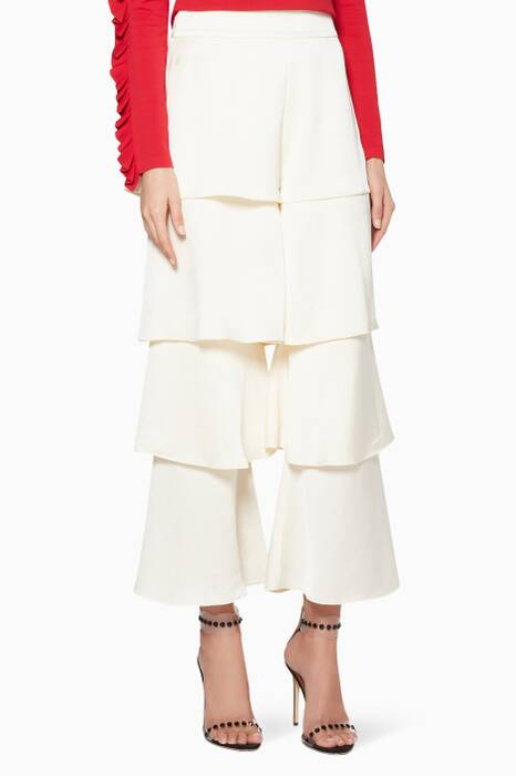 Vanilla-White Cropped Parris Pants