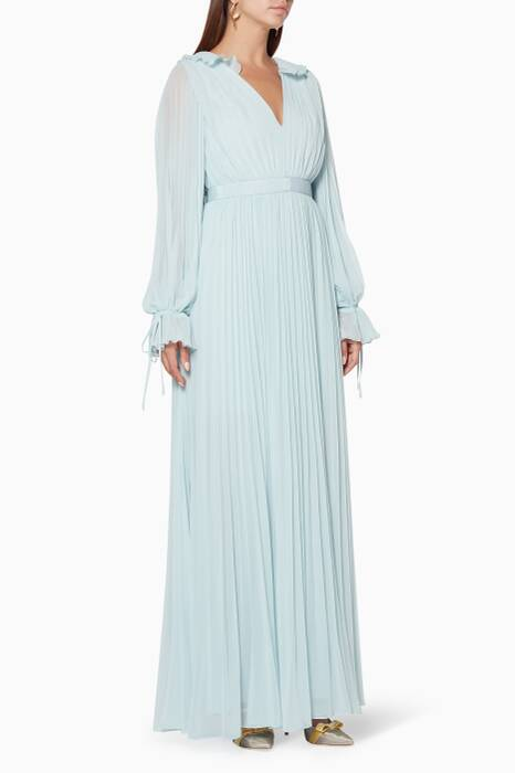 Light-Blue Chiffon Maxi Dress