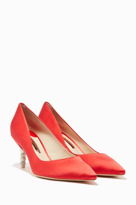 Red Coco Crystal Pumps