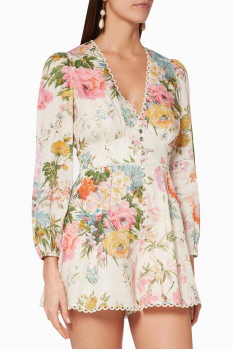 Garden-Floral Heathers Playsuit