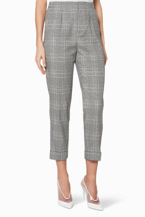 Monochrome Checked Horley Pants