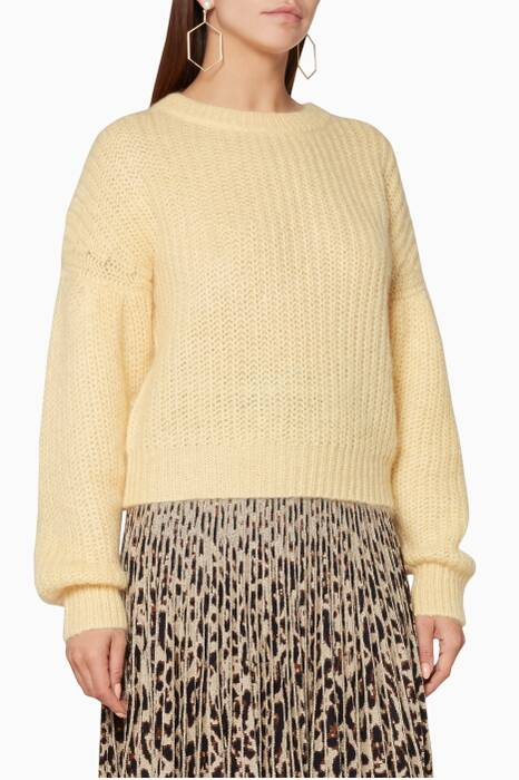 Raffia-Yellow Knitted Chuden Sweater