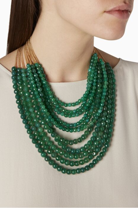 Green Raissa Quartz Necklace